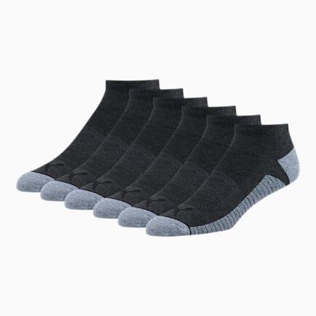 Men's Low Cut Socks [6 Pack], CHARCOAL, small